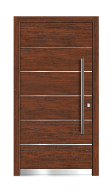 Lesena vhodna vrata Design