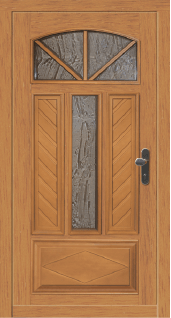 Lesena vhodna vrata Premium